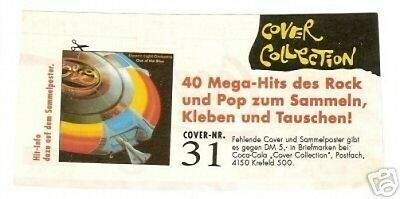 ELO Electric Light Orchestra -  German Coke Label Card Look!