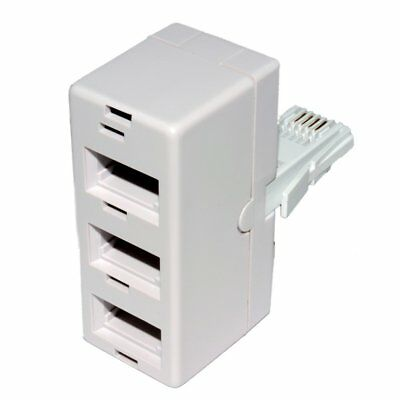 MHP® BT Triple Adapter 3 Way - Split a Single Telephone Socket into 3 Sockets
