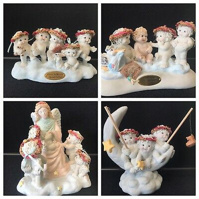 Dreamsicles RARE lot of 4 BIG statues Poetry Child born Silvery moon Dedication