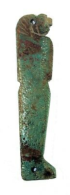Ancient Egyptian Faience Amulet of Son of Horus Late period, ca. 700-30 B.C.
