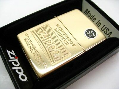 ZIPPO Full Size High POLISH BRASS Classic Windproof Lighter 28145 New!