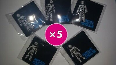 5 X BRAND NEW Prostate Cancer UK (you get FIVE!) - Men United  Pin Badge Sealed