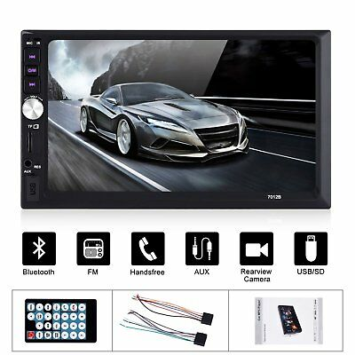 "7"" Car Stereo Radio LCD Touch Screen MP5 MP3 Player 2DIN Bluetooth USB In Dash"