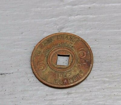 Mississippi  5 CENTS TAX COMMISSION SALE TAX TOKEN Free Shipping
