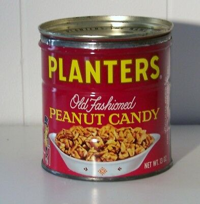 Planters Old Fashioned Peanut Candy Tin - Nice!
