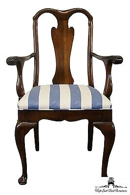DAVIS CABINET Masters Collection Solid Mahogany Queen Anne Arm Chair 1244