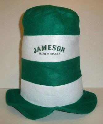 Jameson Irish Whiskey Tall Party Hat - Dr Seuss Mad Hatter Style St Patricks Day