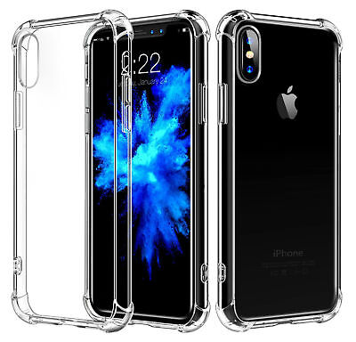 For iPhone X  iphone 8 Plus Clear Case Cover Shockproof Protective TPU Bumper