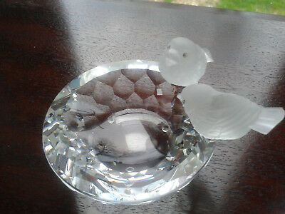 Swarovski  Bird Bath 010029 Retired, Excellent Condition, But No Box