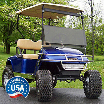 EZGO Golf Cart Tinted Fold Down Windshield Fits TXT and Medalist 1994 to 2013