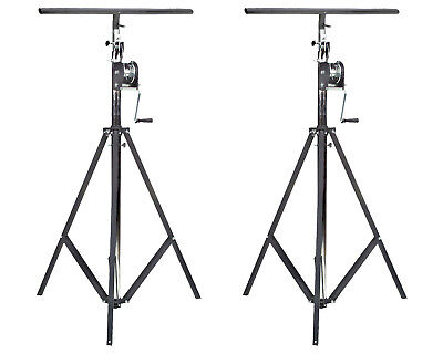 """One Pair of Global Truss ST-132 Tripod Crank Stand or Lift with 51"""" T-Bars"""