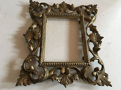Vintage Solid Wroth Ornate Art Nouveau Picture Frame Or Mirror Frame To Hang1940