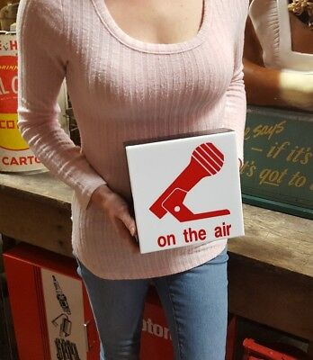 """Vintage """"ON THE AIR"""" Radio Broadcasting Man Cave Lighted Sign"""