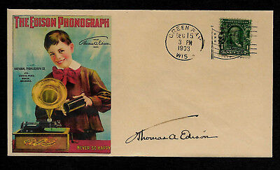 1900s Edison Phonograph Featured on Limited Edition Collector's Envelope *OP507