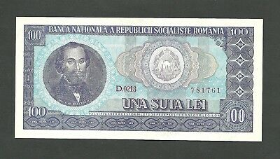 ROMANIA 100 Lei 1966 aUNCIRCULATED