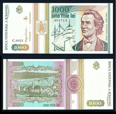ROMANIA 1000 Lei 1993 P102 UNCIRCULATED