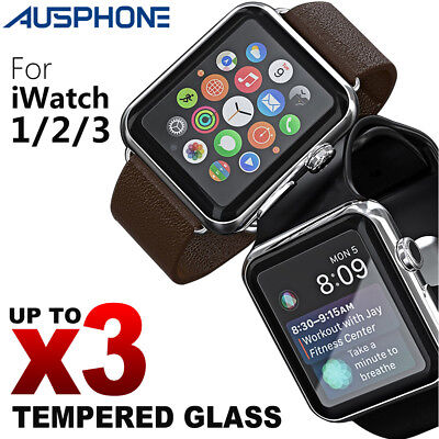 For Apple Watch Series 1 /2 /3 38mm 42mmTempered Glass Screen Protector Cover