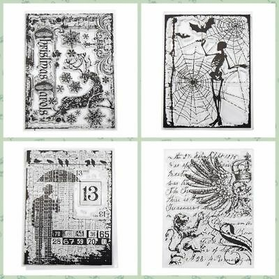DIY Crafts Cards Silicone Rubber Scrapbooking Transparent Stamps Clear Sheet