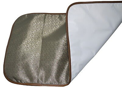 TRAVEL BABY CHANGING MAT PORTABLE FOLDING Choice of Coloured Leather Trim 2nd's
