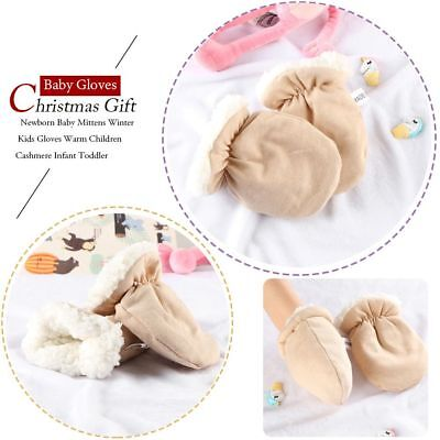 Toddler Christmas Full Finger Cashmere Mittens Winter Warm Baby Gloves