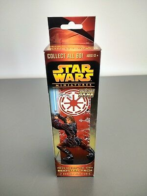 ONE (1) NEW WOTC Star Wars Miniatures: Revenge of the Sith Booster Pack - SEALED