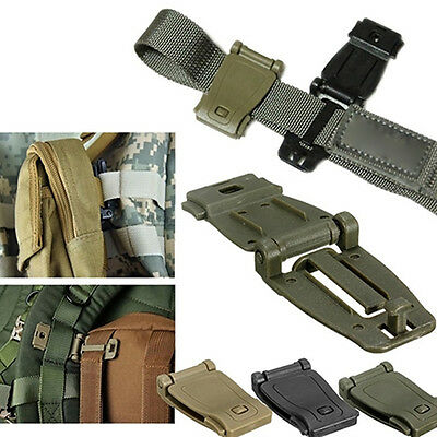 5Pcs EDC Gear Army Fans Outdoor Backpack Fixed Buckle Clip Molle Webbing Tool