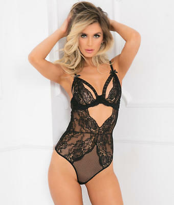 270d6b6f077 RENE ROFE SPLITTING-UP Bodysuit Lingerie - Women s  7053-BLK ...