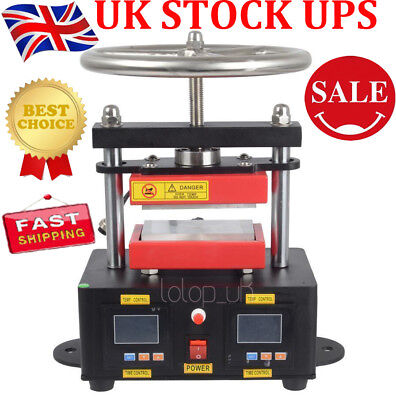 Electric Rosin Press Machine Stamper Manual Operation Double Plates Heating UK