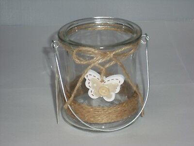 Butterfly Design Glass Candle Holder