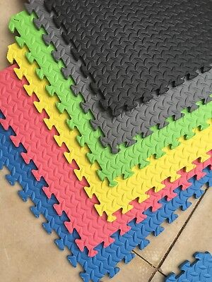 J Large Interlocking Eva Foam Mats Tiles Gym Play Garage Workshop Floor Mat