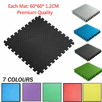 LARGE INTERLOCKING EVA FOAM MATS TILES GYM PLAY WORKSHOP FLOOR MAT 12mm THICK