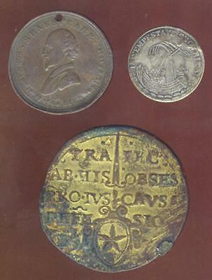 3 Interesting Old World Medals, Shakespeare, Ect. Free USA Shipping