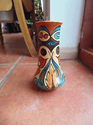Vintage Clews & Co Chameleon Ware Art Deco Vase 53 / 125