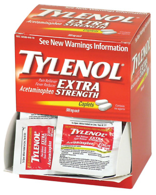 Tylenol Extra Strength 100 Packs of 2 Pain Reliever Fever Reducer Acetaminophen