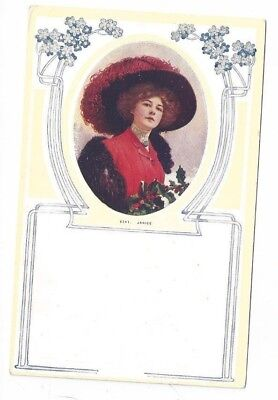 "Antique Art Deco Style Pretty Lady Post Card by Frederickson ""Janice"""