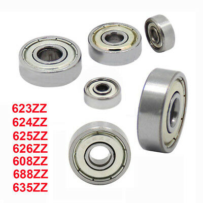 For 3D Printer 623 624 625 626 608 688 635ZZ Deep Groove Flanged Ball Bearing