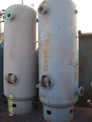(1) 660 gallon vertical air receiver tank rated at 145 PSI @450F