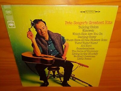 Pete Seeger's Greatest Hits VINYL LP & COVER VG+ close to EX, FOLD PROTEST SONGS