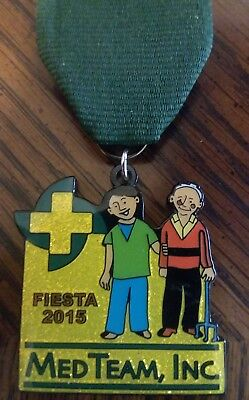Fiesta 2015 The Med Team Pin/Medal San Antonio,Texas Medical