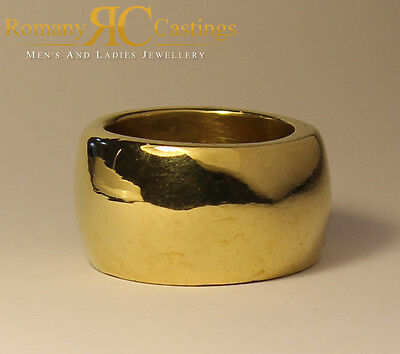 Men'sMassive Wedding Band Ring Cast in Jewellers Bronze Dipped in 9ct Gold