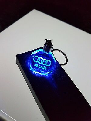 2019 Led 3D Audi crystal keychain key ring keyring brand new with gift box a3 a4