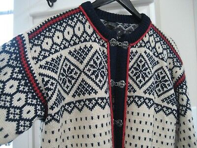 Vintage Women's  Dale Of Norway Wool Cardigan Sweater Made In Norway