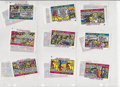 Lot of 18 Vintage Bazooka Joe Chewing Gum Comic Cards