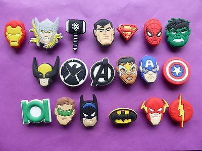 21 New Avengers Movie jibbitz crocs shoe charms cake toppers Age Of Ultron