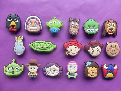 17 Toy Story Buzz Woody Jessie jibbitz crocs loom band shoe charms cake toppers
