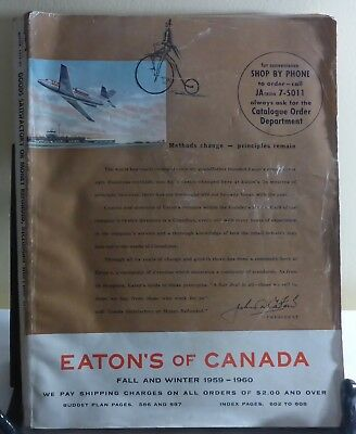 Eaton's Of Canada Fall And Winter 1959-1960 Catalouge - The T. Eaton Co. Toronto