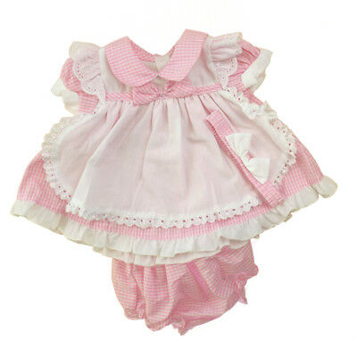 Baby Girl spanish style Dresses Knickers Headband  Pink Gingham   0  -24 months