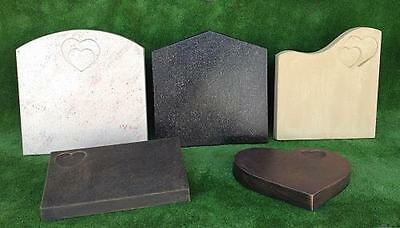 Memorial Headstone Moulds - Set of 8 - NEW -  Grave Stone Molds