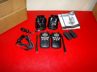 TWO Uniden Voyager VHF Transceiver Handheld Submersible Marine Radio No Battery