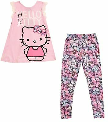 Hello Kitty Girls 2-Piece Legging And Tunic Set (Petal Pink) (4T/5/6/6X) *NWT*